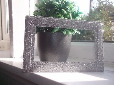 £4.95 • Buy Silver Sparkle Glitter Double Plug Socket Surround Plate New Fits Over Wallpaper
