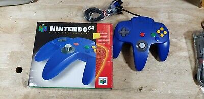 $ CDN93.09 • Buy NINTENDO 64 N64 Authentic Blue Controller OEM W/ Box Tested!!!!