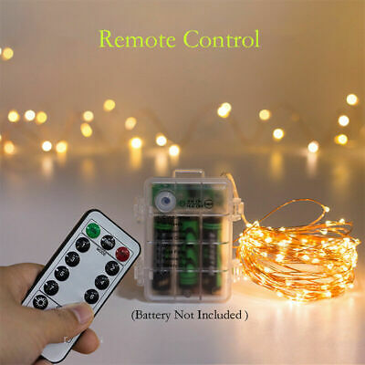 LED Battery Fairy String Lights Party Outdoor  Xmas Remote Control Wedding Party • 5.23£