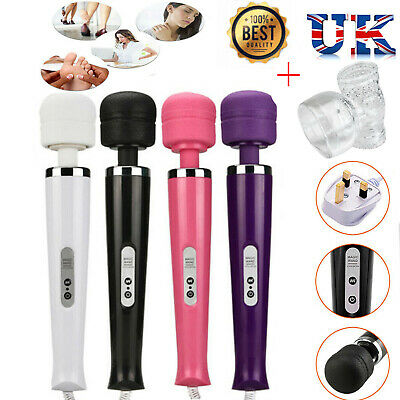 Magic Wand Waterproof Full Body Sports Massager Vibrating 30 Speed Settings • 14.99£