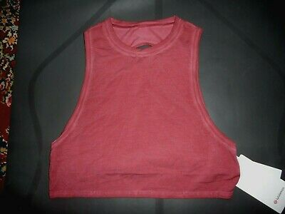 $ CDN59.98 • Buy Lululemon  CUT BACK CROP TANK *WASH WASHED CHIANTI SZ 4 NWT