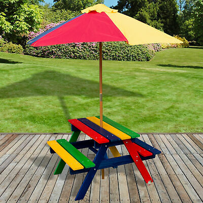 £54.99 • Buy Large Kids Childrens Picnic Bench Table Outdoor Garden Furniture Patio Barbecue