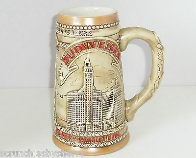$ CDN59.94 • Buy Budweiser Chicago IL Marina City Wrigley Water Tower Beer Stein Vintage 1981 LE