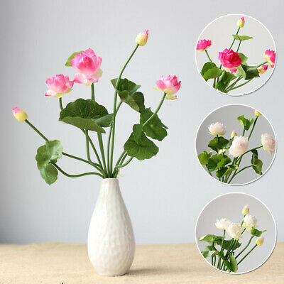$ CDN11.24 • Buy Artificial Lotus Flower Lily Fake Plants Swimming Pool Floating Gift Decor Hot