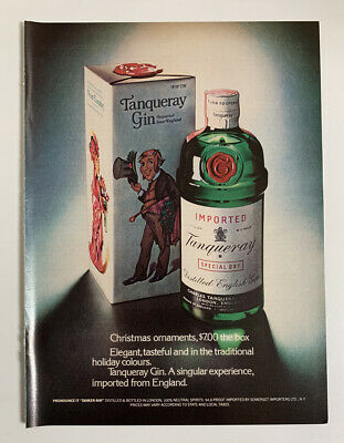£6.89 • Buy 1972 Tanqueray Gin Print Ad Bottle Singular Experience Imported From England