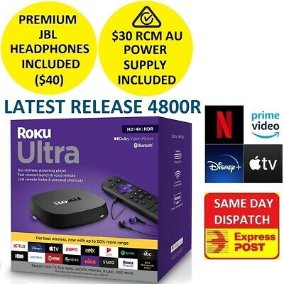 AU229 • Buy 2020 Roku Ultra 4800R UHD HDR Player For NETFLIX PLEX AMAZON PRIME VIDEO DISNEY+
