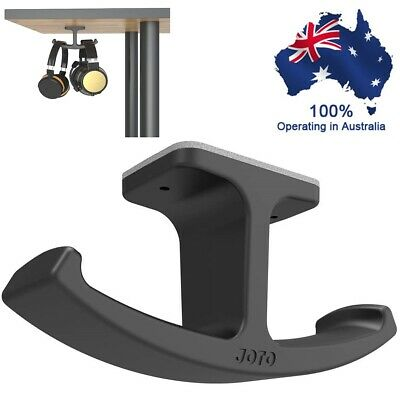 AU18.70 • Buy Headphone Stand Hanger JOTO Silicone Under Desk Dual Headset Holder Mount Hook