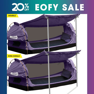 AU289.99 • Buy Mountview Double King Single Swag Camping Swags Canvas Dome Tent Standing Purple
