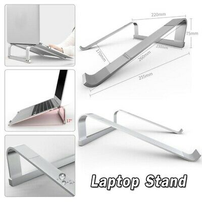 Portable Aluminum Laptop Stand Holder For MacBook/Dell/Lenovo/HP/Asus 11 To17In • 9.49£