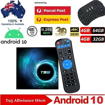 AU82 • Buy 2020 T95 Android 10 10Q Smart TV BOX 64Bit CPU Dual WiFi Bluetooth Media Player