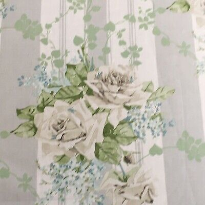 £64.99 • Buy SANDERSON CURTAIN UPHOLSTERY FABRIC  Cecile Rose 4.3m IVORY/SILVER VINTAGE 2coll