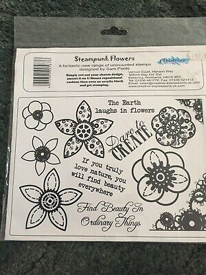 £5.50 • Buy CREATIVE EXPRESSIONS Stamps STEAMPUNK FLOWERS
