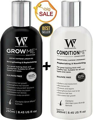£33.99 • Buy Grow Me Shampoo & Conditioner By Water Man Fast Hair Growth Treatment Men Woman