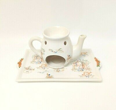 Yankee Candle 2pc Farm House Candle Tray/ Essential Oils Teapot By Ellen Mcleod • 19.25£