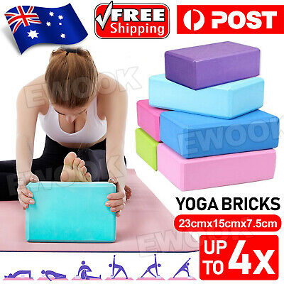 AU12.85 • Buy 2 / 4 Pcs Gym Sport Tool Foaming Yoga Fitness Practice Block Brick Home Exercise