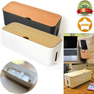 Cable Storage Box Case Power Strip Cord Wire Management Socket Cable Tidy Box • 10.99£