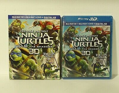 $ CDN29.99 • Buy Teenage Mutant Ninja Turtles: Out Of The Shadows 3D Blu-Ray/DVD With SLIPCOVER