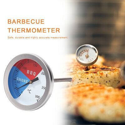 Celsius Temperature Thermometer Gauge Barbecue BBQ Grill Smoker Pit Thermostat • 4.95£