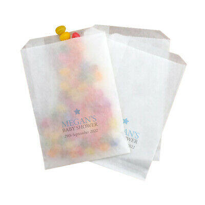 10 Personalised Christening Communion Glassine Party Favour Gift Bag • 2.99£