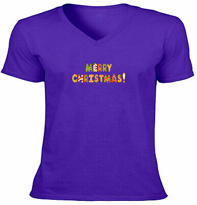 $15.30 • Buy Unisex Tee T-Shirt Vneck Gift Shirts Print Merry Christmas Candy Cookie Bakers