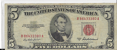 $ CDN13.42 • Buy 1953 A Red Seal $5 United States Note