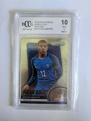 $ CDN294.40 • Buy 2018 Kylian Mbappe Panini Prizm New Era BCCG 10 Rookie Comparable To PSA 10