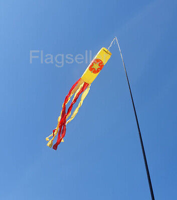 £8.49 • Buy Lancashire Flag Tube Windsock 60  For Telescopic Flag Pole Fstivals Or Camping H