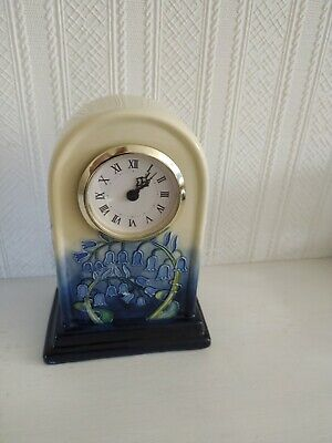 CERAMIC QUARTZ CLOCK, OLD TUPTON WARE HAND PAINTED BY JEANNE McDOUGALL • 20£
