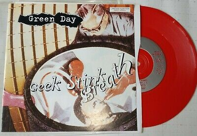 GREEN DAY - GEEK STINK BREATH  7   LIMITED EDITION RED VINYL PUNK Winston Smith  • 9.50£