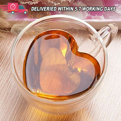 Double Wall Clear Glass Tea Coffee Cup Heat-resistant Thermal Mug Cups 180/240ML • 8.95£