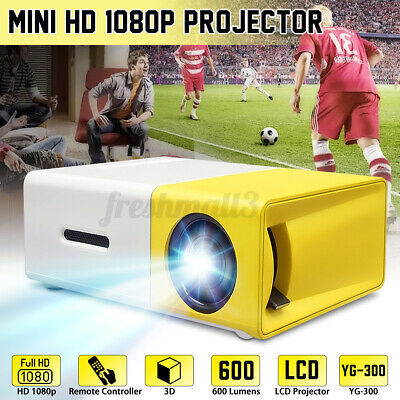 AU72.99 • Buy Mini YG300 Portable Pocket 4K HD 1080P Movie Projector Home Theater Cinema HDMI