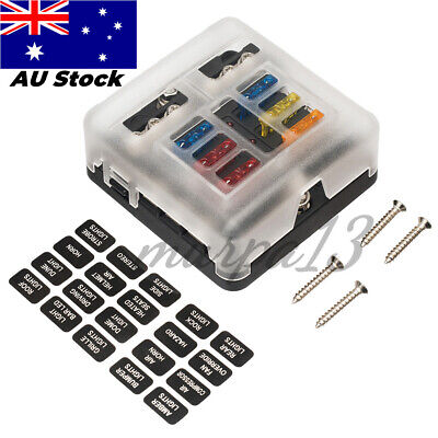 AU21.29 • Buy 19PCS 6-Way Blade Fuse Box Block Holder LED Indicator Light 12V/32V Car Marine