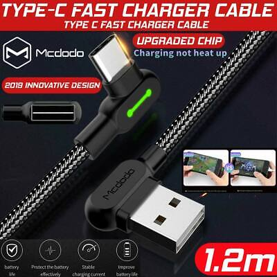 AU5.65 • Buy Fast Data Charging Charger Cable Braided Type C 90 Degree Right Angle USB C 3.1