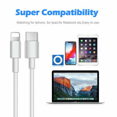 AU5.19 • Buy PD Fast Charging Lightning To USB Type C Cable I Phone 11 Pro Max X IPad 8+