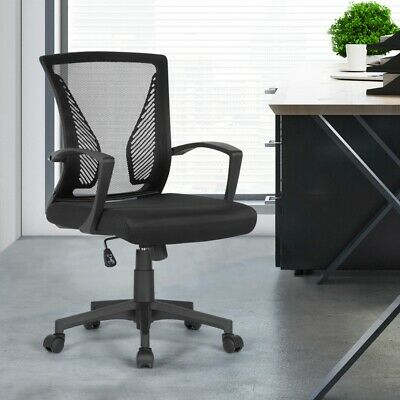 AU60 • Buy Office Ergonomic Chairs Computer Mesh Swivel Mid Back Chair With Lumbar Support