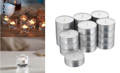 £10.99 • Buy Glimma Tea Light Candles Unscented White 59mm Wax Tealight 9 Hr Pack 24,48,72,96