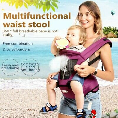 Infant Baby Carrier Toddler Kid Waist Hip Seat Stool Wrap Belt Sling Backpack UK • 20.56£