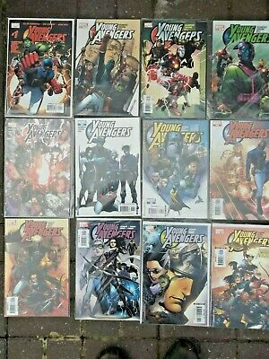 Young Avengers 1 2005 Complete Set Issues 1-12  1st App Kate Bishop VFN/ NM MCU • 259£