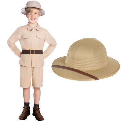 Safari Outfit And Hat Fancy Dress Costume • 7.49£