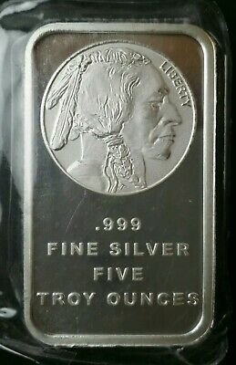 $ CDN184.18 • Buy 5oz Silver Buffalo/Indian Bar In Plastic