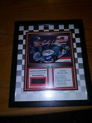 $24.95 • Buy Rusty Wallace 2002 Collectible Framed Picture And Mounted Tire Piece NASCAR