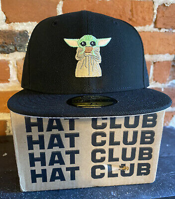 $75 • Buy Hat Club Exclusive Baby Yoda Drinking Soup 59FIFTY(Size 7 3/8) NEW!