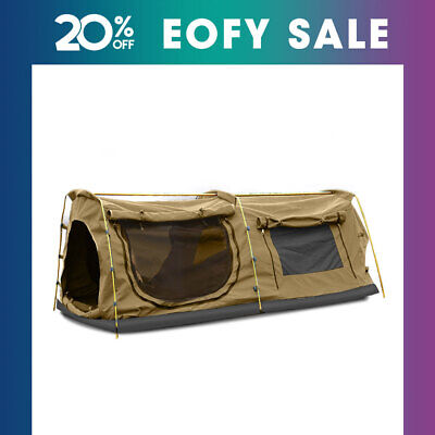 AU229.99 • Buy Mountview Double King Swag Camping Swags Canvas Dome Tent Hiking Mattress Khaki
