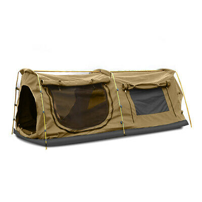 AU249.99 • Buy Mountview King Single Swag Camping Swags Canvas Dome Tent Hiking Mattress Khaki