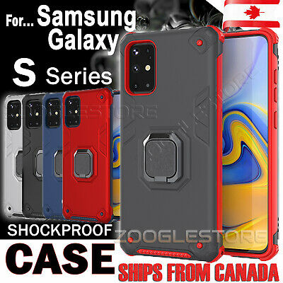 $ CDN8.99 • Buy For Samsung Galaxy S10 S20 S9 S10e Plus Case Heavy Duty 360 Magnetic Ring Cover