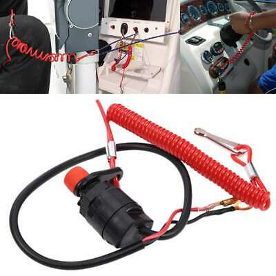AU7.99 • Buy Boat Outboard Engine Motor Kill Stop Switch Safety Tether Lanyard Fit Yamaha