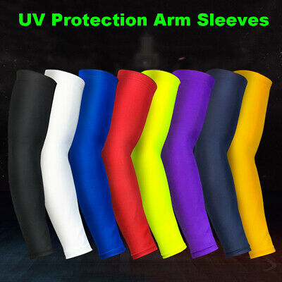 Basketball Compression Running Cycling Sport UV Protection Sleeve Arm Bands • 5.59£