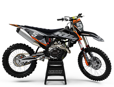 $159.95 • Buy New Dirtx Industries Complete Graphics Factory Storm Orange/gray All Ktm Models