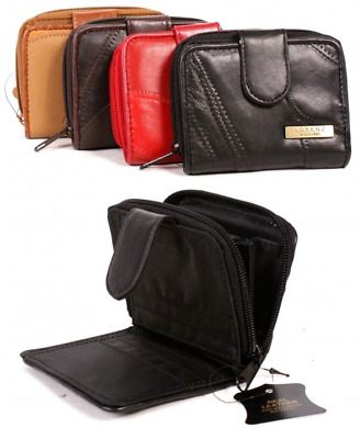 $ CDN15.56 • Buy Real Leather Small Patchwork Zip Around 6 Card Womens Purse 4 Colours DV4626