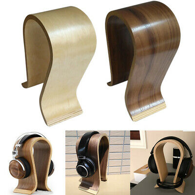 AU27.65 • Buy Headset Headphone  Walnut Wooden Shape Display Stand Hanger Holder Rack Mount